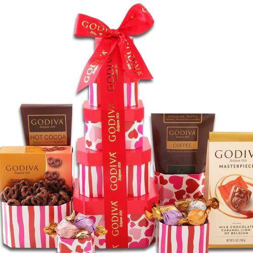 Godiva Sweetheart: Valentine's Day Gift Tower