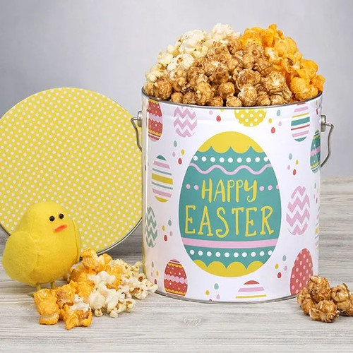 Easter Popcorn Tin Gift - Choose Flavor and Tub Size