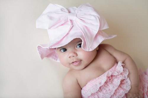 Pale Pink Sun Hat with Pale Pink Bow-Rae-Mi