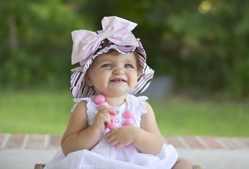 Pink Brown Sun Hat with Pale Pink Bow-Rae-Mi