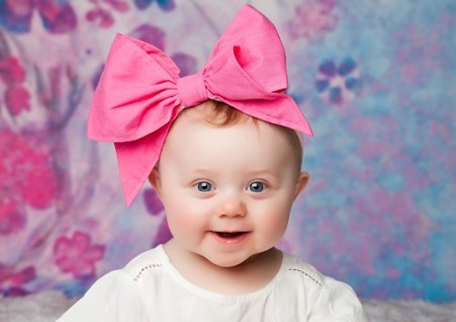 41eb4ace9e5 Candy Pink Soft Headband with Candy Pink Bow-Rae-Mi