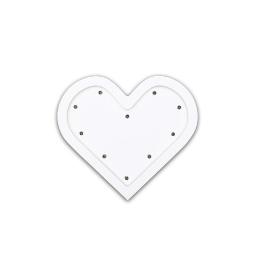 Heart Marquee Wall Light (White) 7'' H x 7'' W