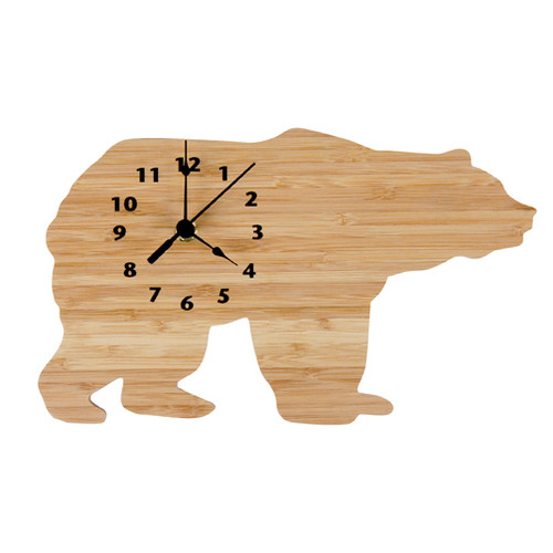 Trend Lab Northwoods Collection Bear Wall Clock - Bamboo