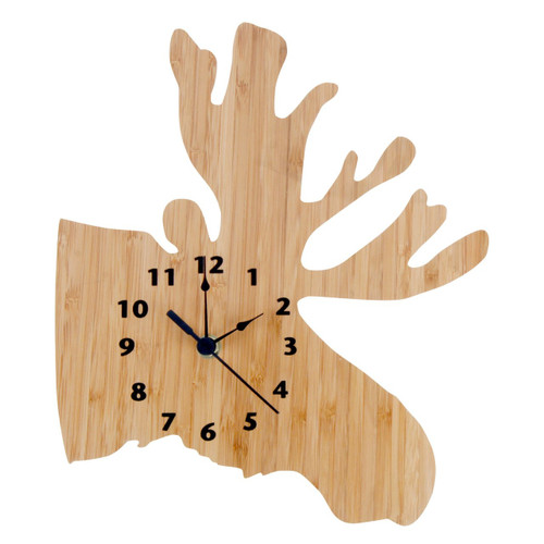 Trend Lab Northwoods Collection Moose Wall Clock - Bamboo