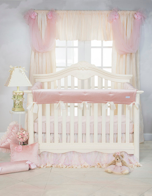 Anastasia Cream Collection 2 Piece Starter Crib Bedding Set