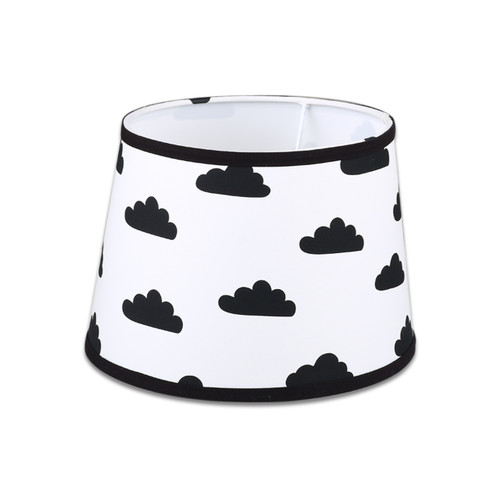 Black and White Clouds Print Cotton Fabric Lamp Shade