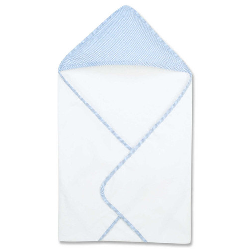 Trend Lab Gingham Seersucker Blue Deluxe Hooded Towel