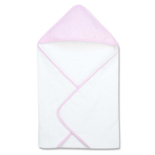 Trend Lab Gingham Seersucker Pink Deluxe Hooded Towel
