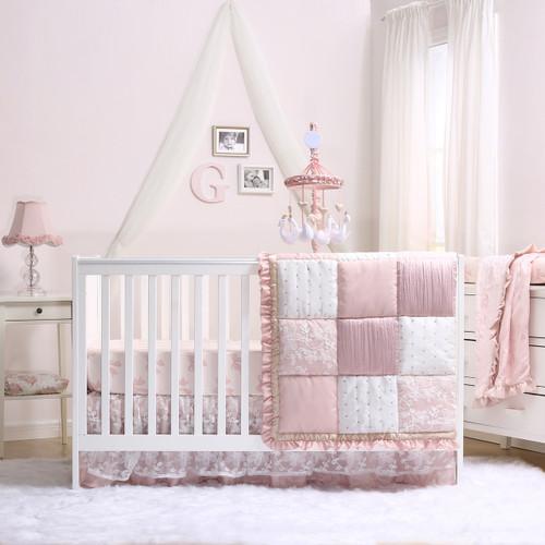 Grace Collection 4 Piece Crib Bedding Set