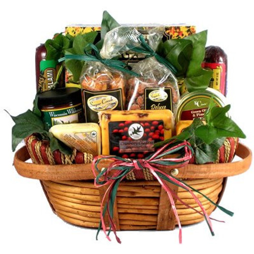 The Midwesterner, Gourmet Classic Cheese and Sausage Gift Basket