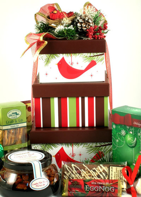 Cardinal Christmas, Deluxe Holiday Gift Tower