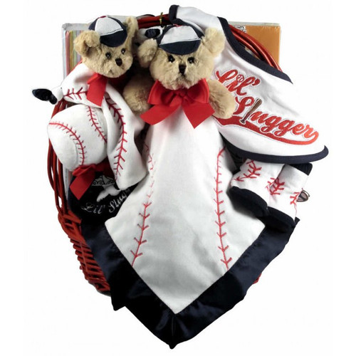 Lil' Slugger, Sports Themed Baseball Gift Basket for Baby Boy