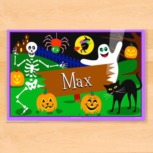 Halloween Ghost Personalized Kids Placemat