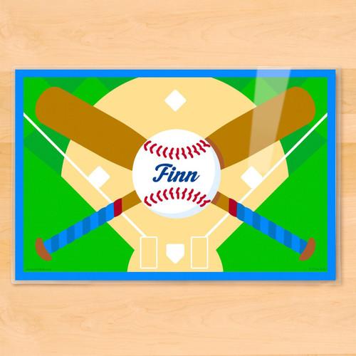 Baseball Personalized Kids Placemat
