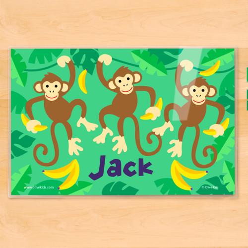Monkeys Personalized Kids Placemat