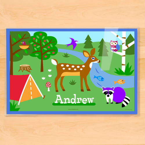 Camping Trip Personalized Kids Placemat