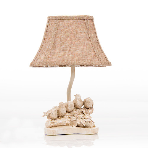 "Birds On A Branch Accent Table Lamp (9x6x12"") (25W)"