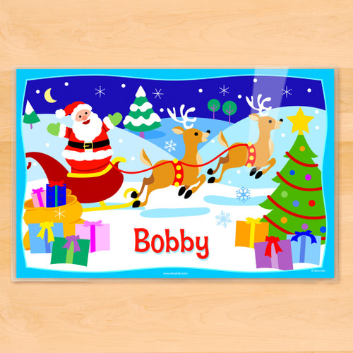 Christmas Personalized Kids Holiday Placemat