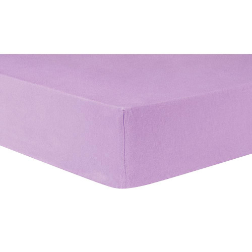 Lilac Deluxe Fitted Flannel Crib Sheet