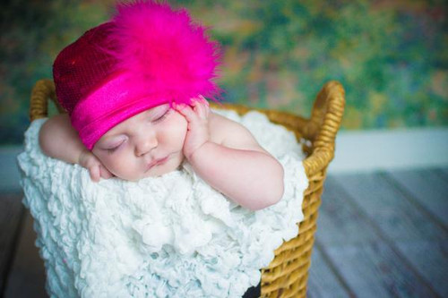Jamie Rae Hats Raspberry Couture with Hot Pink Large Regular Marabou