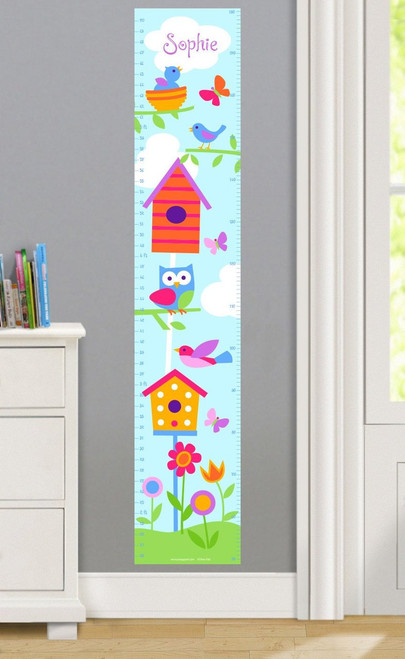 Birdie Personalized Decal Growth Chart