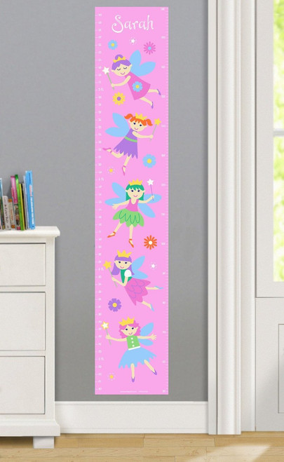 Fairy Princess Personalized Decal Growth Chart