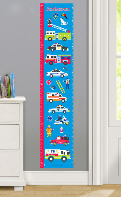 Heroes Personalized Decal Growth Chart
