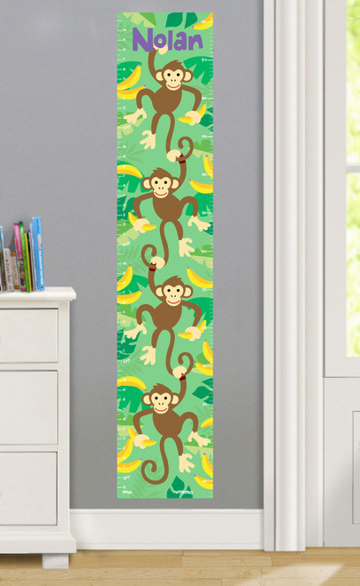 Monkeys Personalized Decal Growth Chart