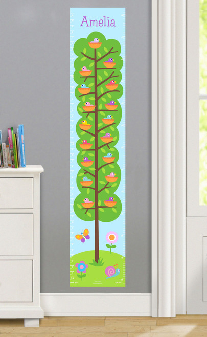 Baby Birds Personalized Decal Growth Chart