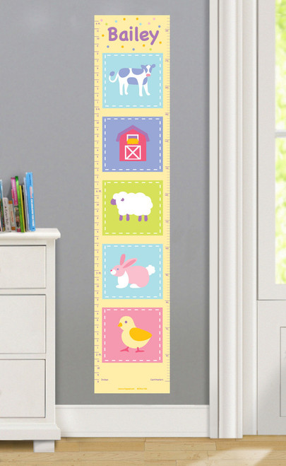Country Baby Personalized Decal Growth Chart