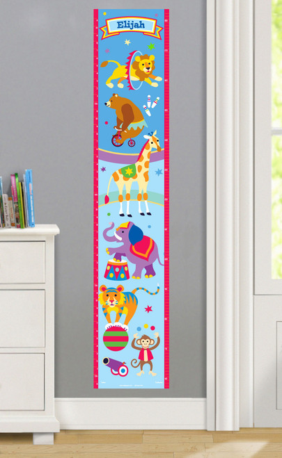Big Top Personalized Decal Growth Chart