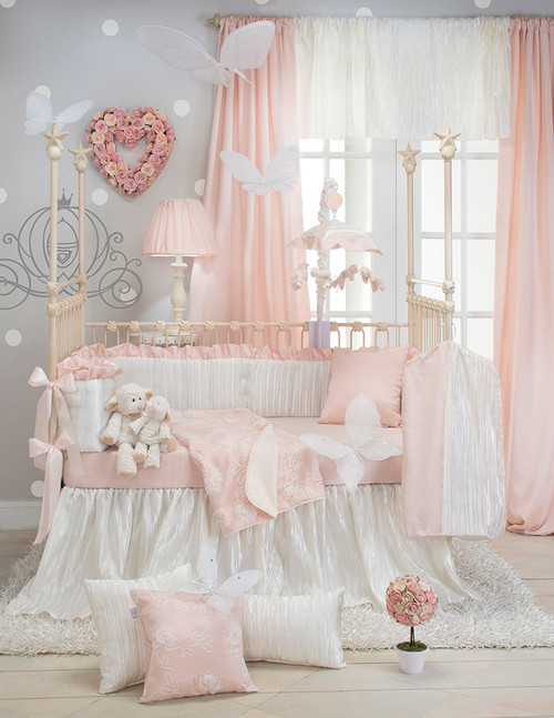 Lil' Princess Collection 4 Piece Crib Bedding Set with Bumper
