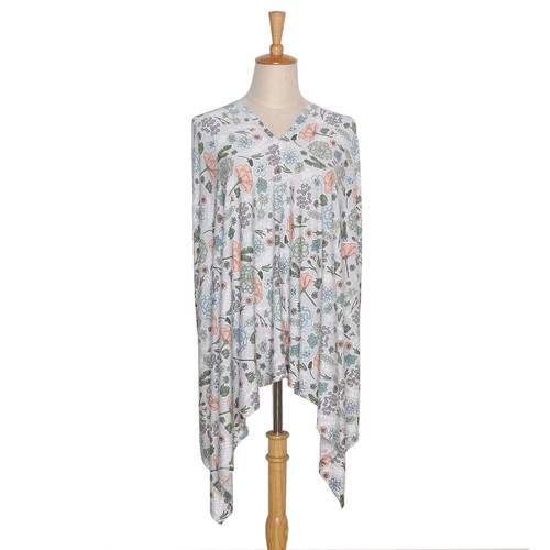 The Peanut Shell Cali Floral 6-in-1 Nursing Poncho in Multi-Color
