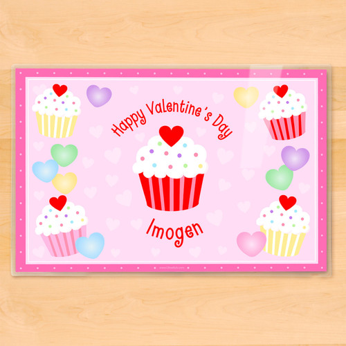Valentine's Day Cupcakes Personalized Kids Placemat