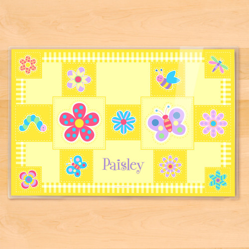 Flowerland Personalized Kids Placemat