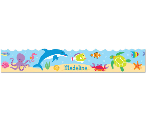 Ocean Personalized Kids Decal Wall Border