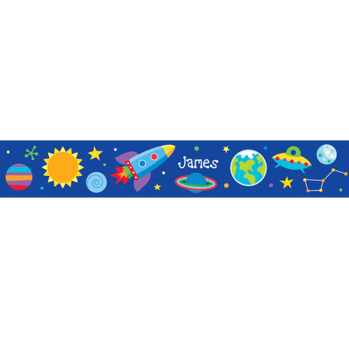 Out of This World Personalized Kids Decal Wall Border