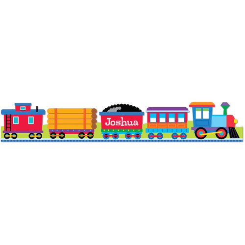 Trains, Planes & Trucks (Train Cars) Personalized Kids Decal Wall Border