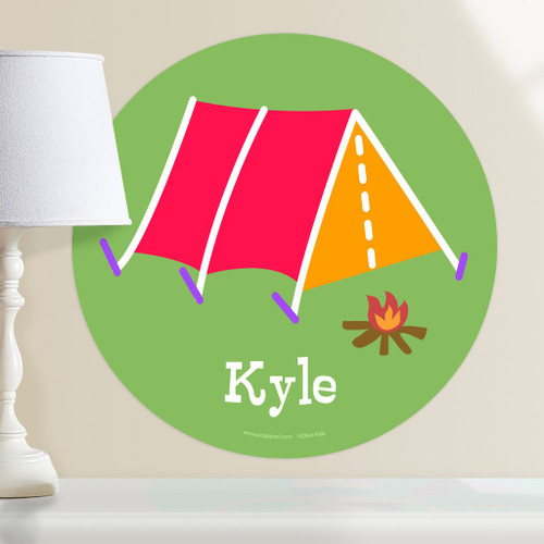 Camping Tent Personalized Kids Wall Dotz Decal