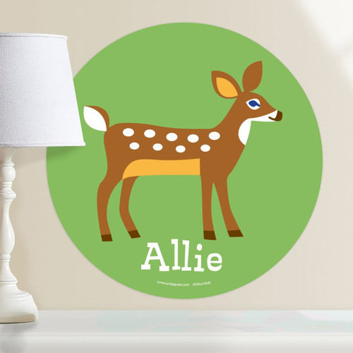 Woodland Deer Personalized Kids Wall Dotz Decal