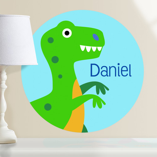 Dinosaur Land T-Rex Personalized Kids Wall Dotz Decal by Olive Kids