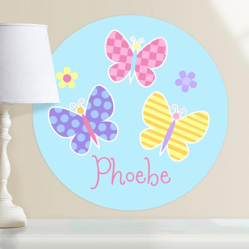 Butterfly Garden Personalized Kids Wall Dotz Decal