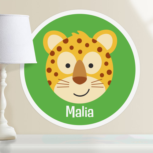 Baby Animals Leopard Personalized Kids Wall Dotz Decal