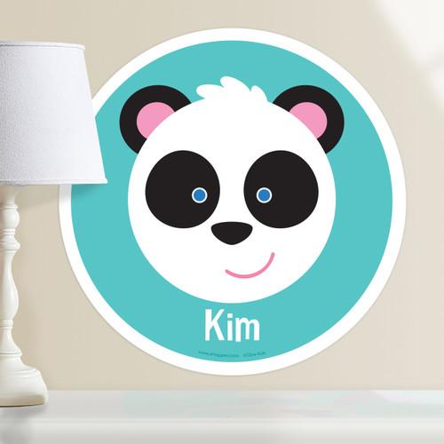 Baby Animals Panda Personalized Kids Wall Dotz Decal