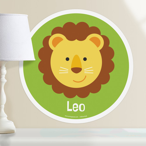 Baby Animals Lion Personalized Kids Wall Dotz Decal