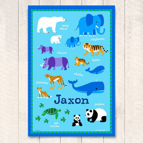 Endangered Animals Personalized Art Print