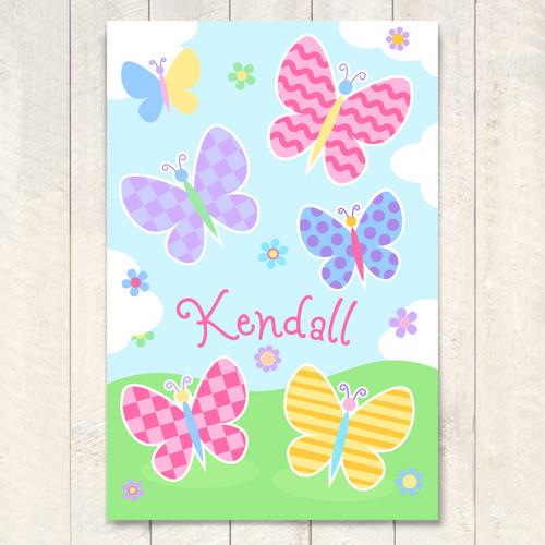Butterfly Garden Personalized Art Print