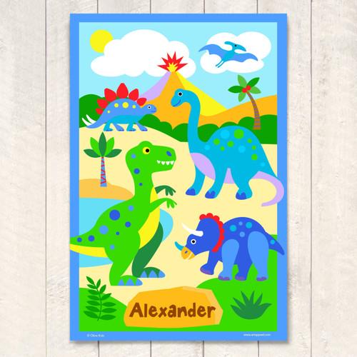 Dinosaur Land Personalized Art Print
