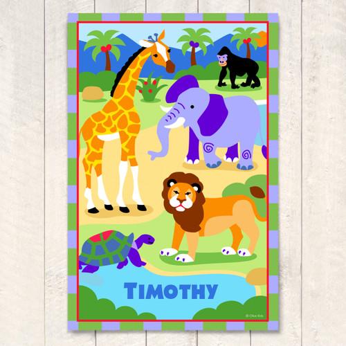 Wild Animals Personalized Art Print
