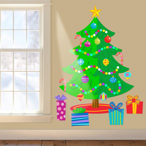 Christmas Tree Jumbo Peel & Stick Wall Decal Mural